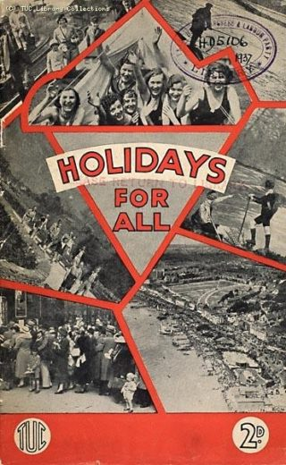Vintage TUC poster calling for 'holidays for all'