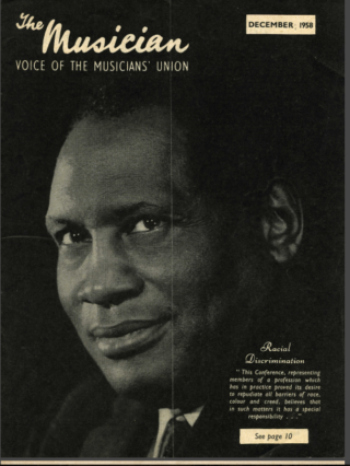 Poster for Robeson appearance in Wales